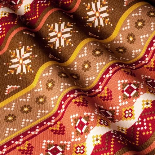 Красивая ткань для штор узор коричневый - 142588v3