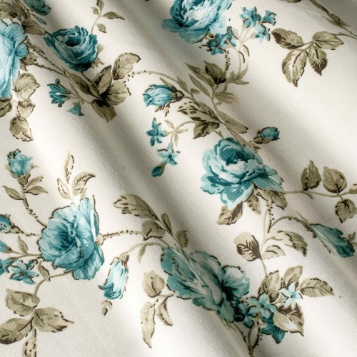 Гарні штори у стилі прованс троянди блакитний - 19510v11