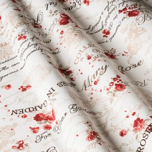 Красивые шторы с розами красный - 22256v15