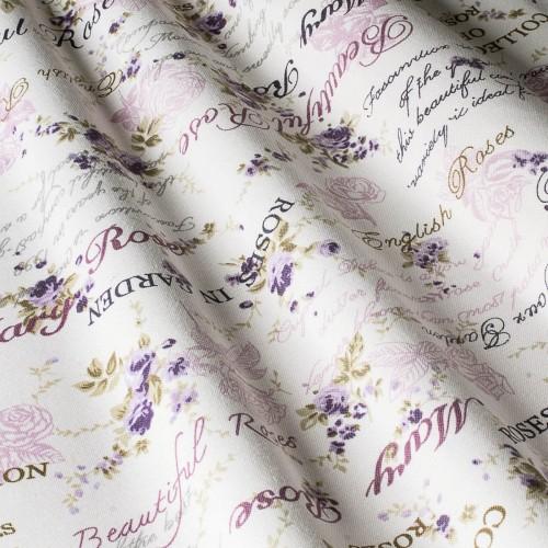 Шторы с розами фиолетовый - 22256v8