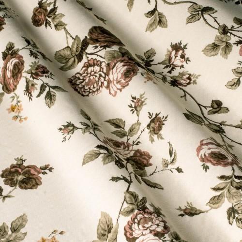 Красивые шторы с розами коричневый - 240834v28