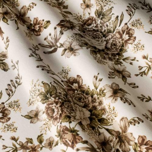 Красивые шторы с розами коричневый - 24188v6