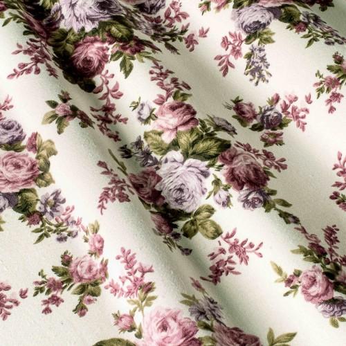 Шторы стиль прованс розы сиреневый - 24240v8