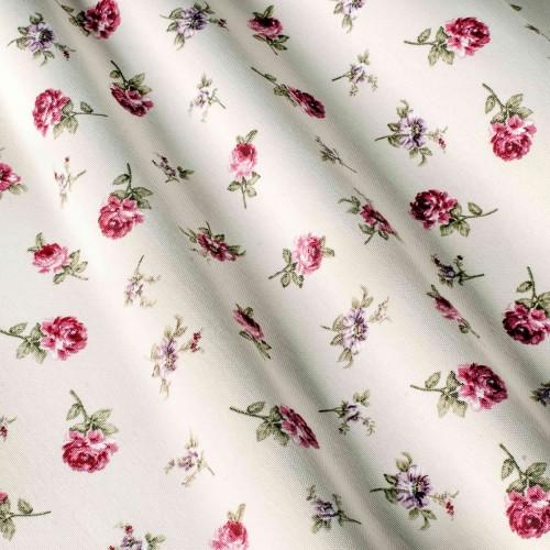 Отличная ткань для штор розовые цветы - 260126v22