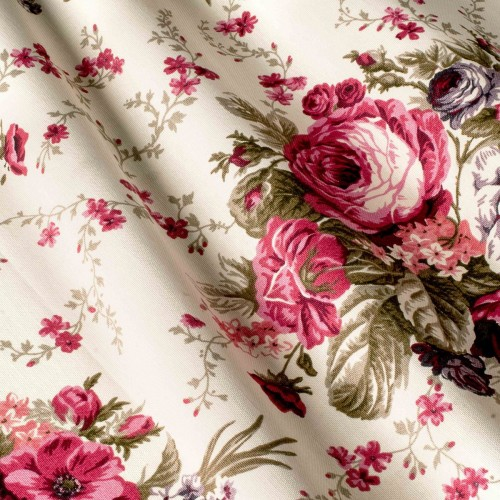 Шторы с розами малиновый  - 260174v29