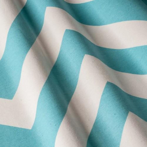 Красивая ткань для штор голубой зигзаг  - 2798v9