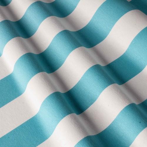 Полосатая ткань для штор голубой - 2802v9