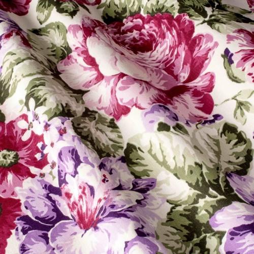 Красивые шторы с цветами малиновый - 320370v31