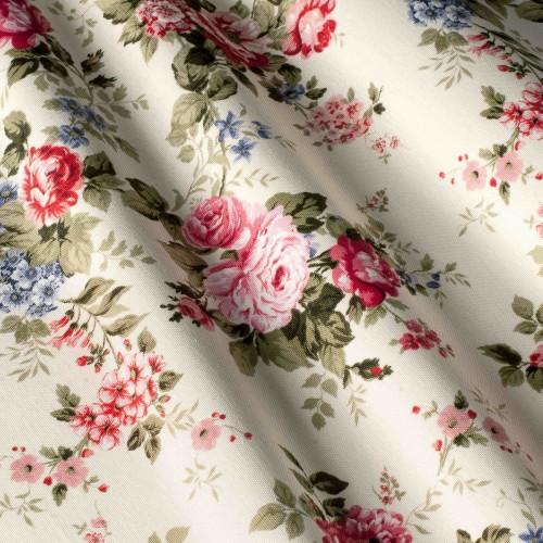 Красивая ткань для штор цветы красный - 321252v4