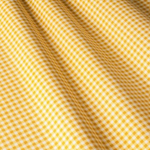 Клетка ткань для скатерти желтая - 45098v11