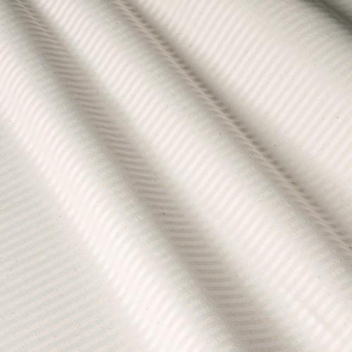 Скатертная белая ткань в бежевую полоску - 800204v1