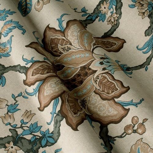 Декоративная ткань с цветочными мотивами - 800232v1