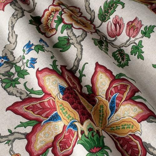 Декоративная ткань с цветочными мотивами - 800232v4