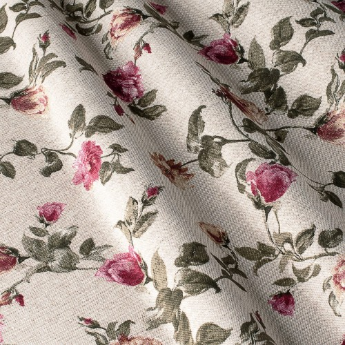 Декоративная ткань с цветочными мотивами - 800312v1