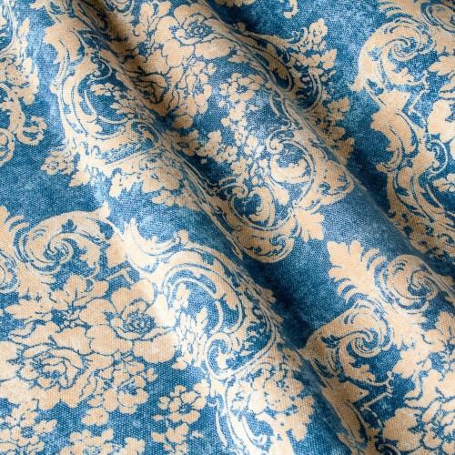 Декоративная ткань с принтом вензель - 800368v1