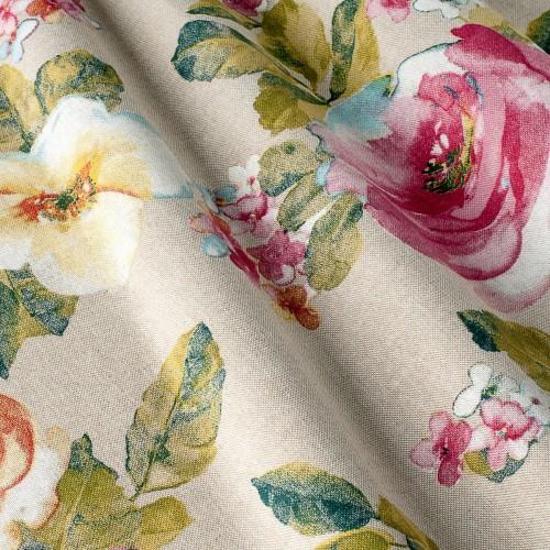 Декоративная ткань с цветочными мотивами - 800384v1