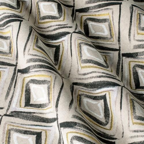 Декоративная ткань с геометрическим принтом, ромбик - 800388v2