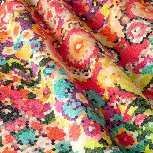 Декоративная ткань принт мозаика - 800428v1