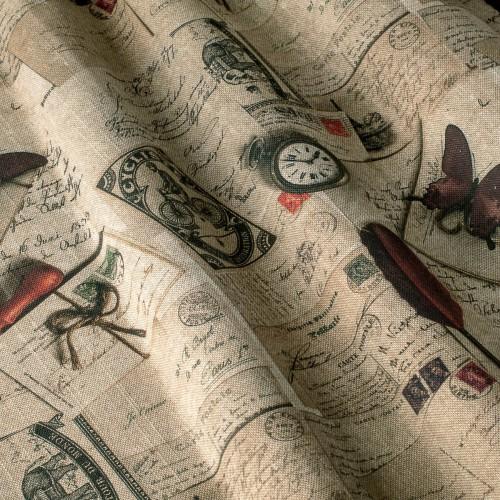 Декоративная ткань принт винтаж - 800442v1