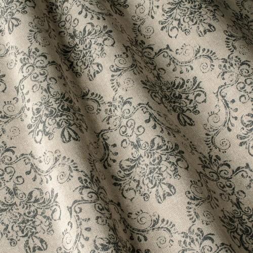 Декоративная ткань принт серый вензель - 800448v3