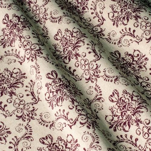 Декоративная ткань принт бордовый вензель - 800448v5