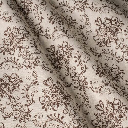 Декоративная ткань принт коричневый вензель - 800448v6