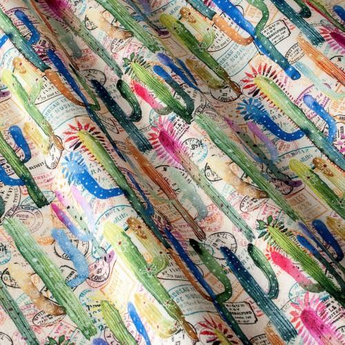 Декоративная ткань принт кактусы - 800456v1