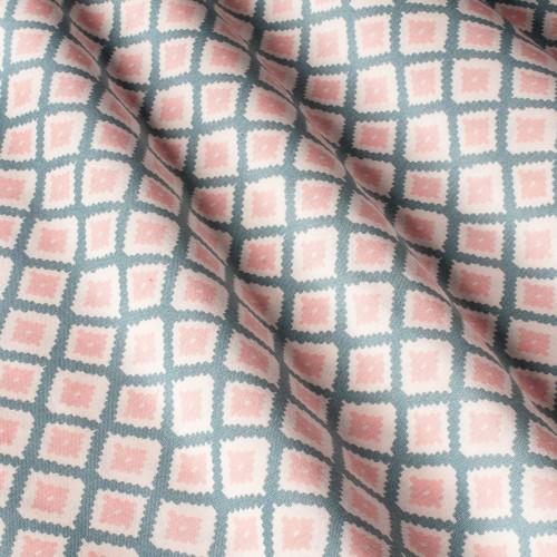 Модная ткань для штор и декора ромбы бирюза - 800488v1
