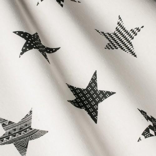 Декоративная ткань с принтом чёрные звёзды, тефлоновое покрытие - 800492v2