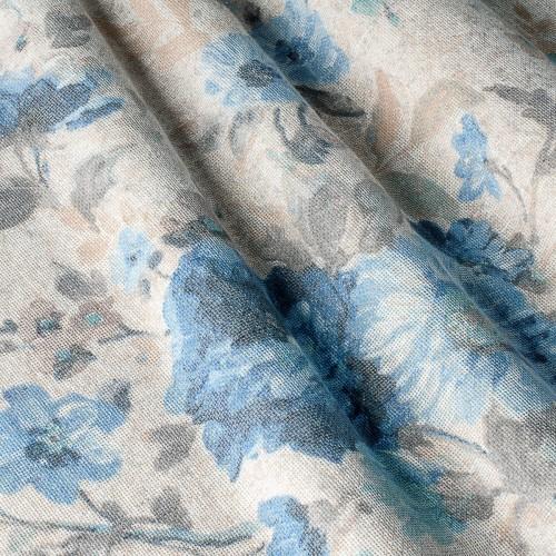 Полупрозрачная тюль компаньон лен цветы - 800518v1 (тюль)