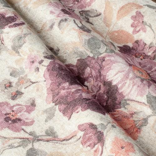 Плотная тюль с цветами компаньон - 800518v2 (тюль)