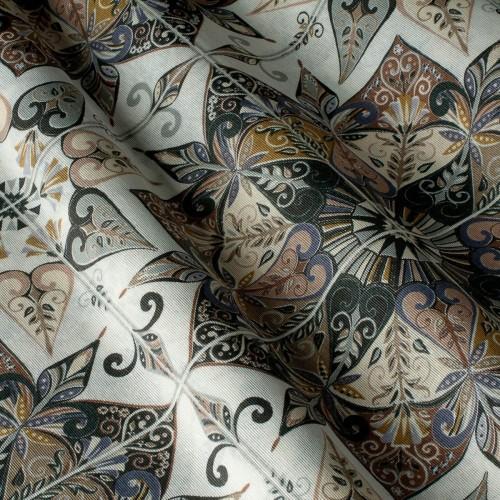 Декоративная ткань принт узорная плитка - 800522v1