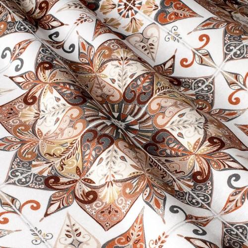 Декоративная ткань принт узорная плитка - 800522v2