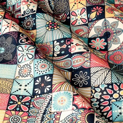 Декоративная ткань принт мозаика - 800528v1
