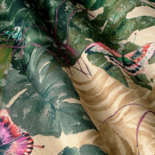 Декоративная ткань с цветочными мотивами - 800546v2
