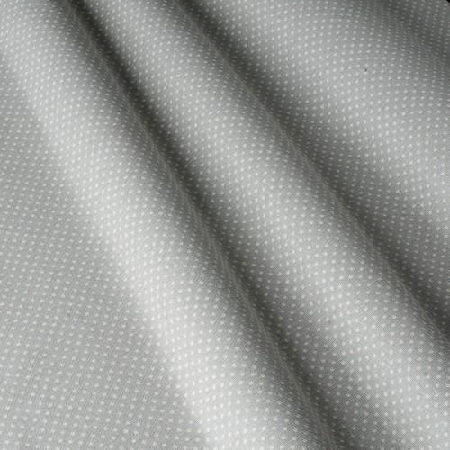 Декоративная ткань в горошек бело-серый - 800570v1