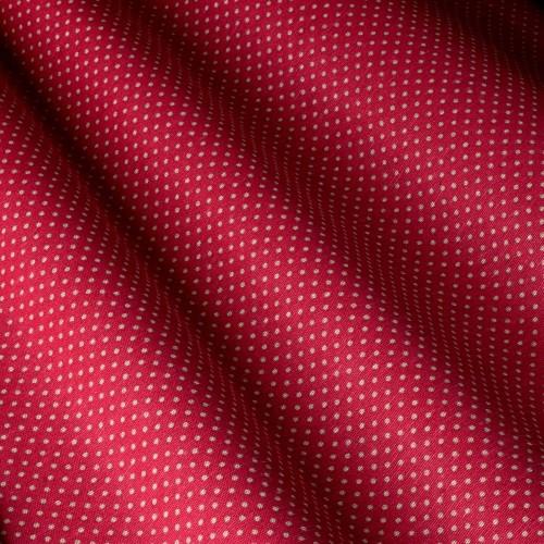 Декоративная ткань в горошек бело-красный - 800570v2