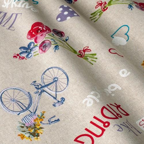 Итальянская ткань в стиле прованс беж - 800580v1