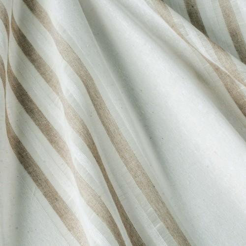 Испанская белая тюль c бело-бежевыми полосками - 800588v1