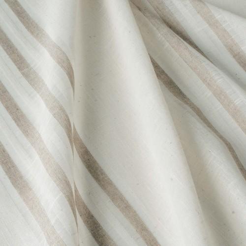 Испанская молочная тюль c бело-бежевыми полосками - 800588v2