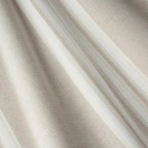 Испанская тёмно-молочная тюль c бело-бежевыми полосками - 800588v3