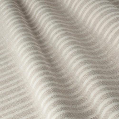 Испанская тёмно-молочная тюль c прозрачными вставками - 800590v3