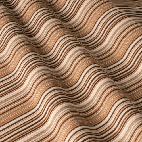 Красивая ткань для штор полоска коричневый - 81412v70
