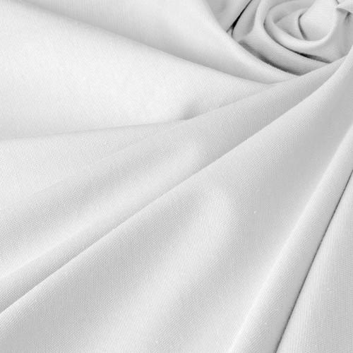 Белая ткань для штор в стиле прованс - DRB-70