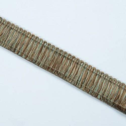 Бахрома щетка, коричн-бирюза 4см - 105568