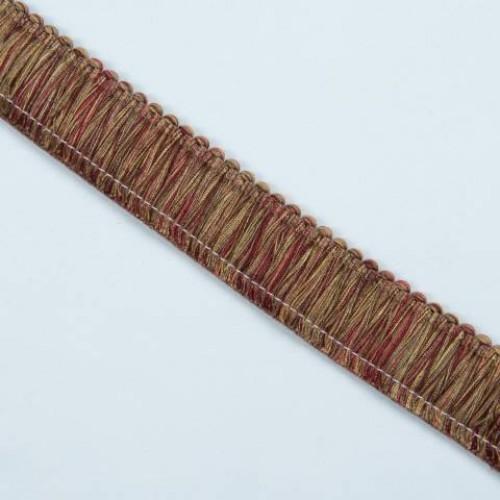 Бахрома щетка, бордо-золото - 105572