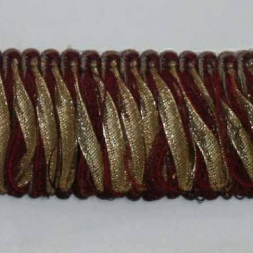 Бахрома петля, бордо-золото - 105596