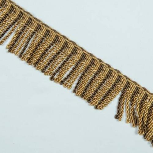 Бахрома спираль, коричн-золото 6.5 см - 105600