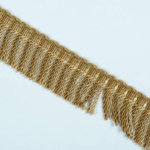 Бахрома спираль, золото 6.5 см - 105608