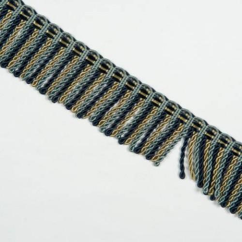 Бахрома спираль, сине-голубой 6.5 см - 105610
